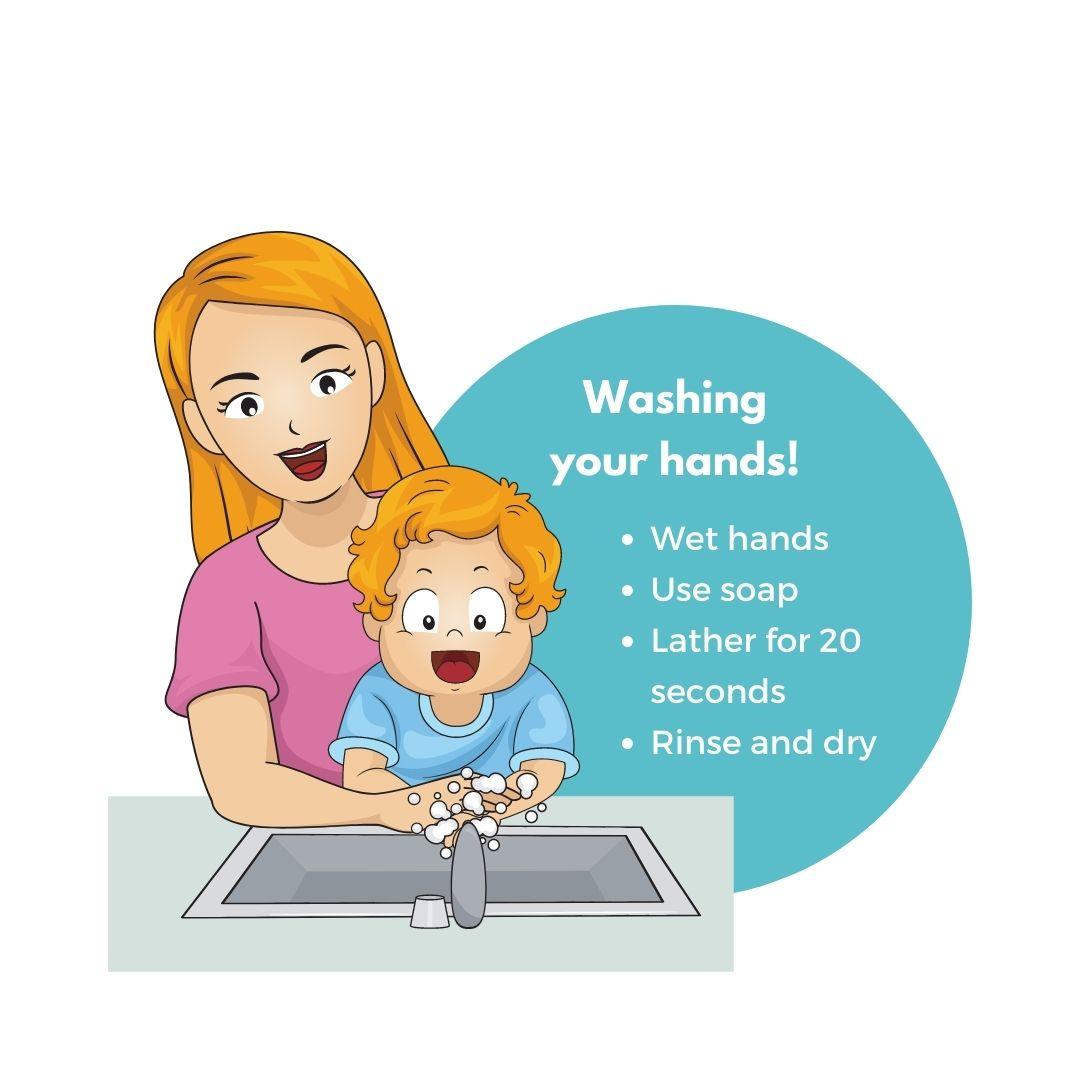 toddler hand washing
