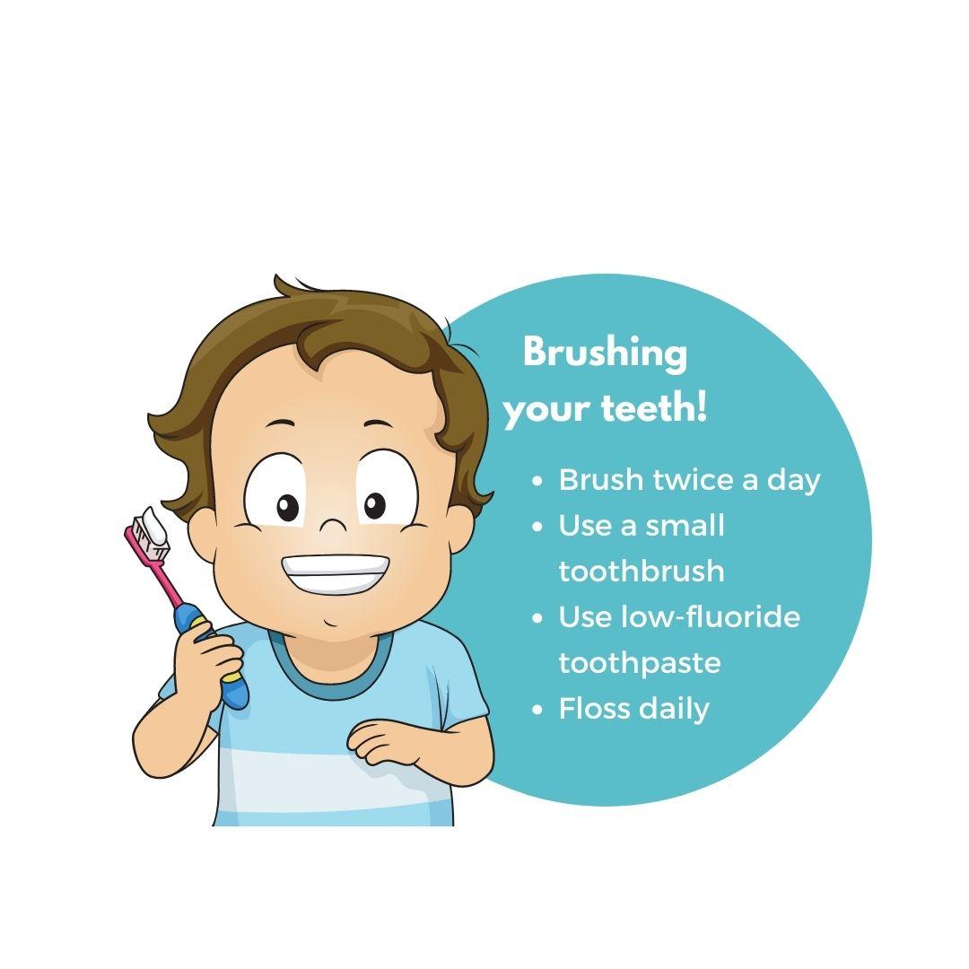 toddler brushing teeth and oral hygiene
