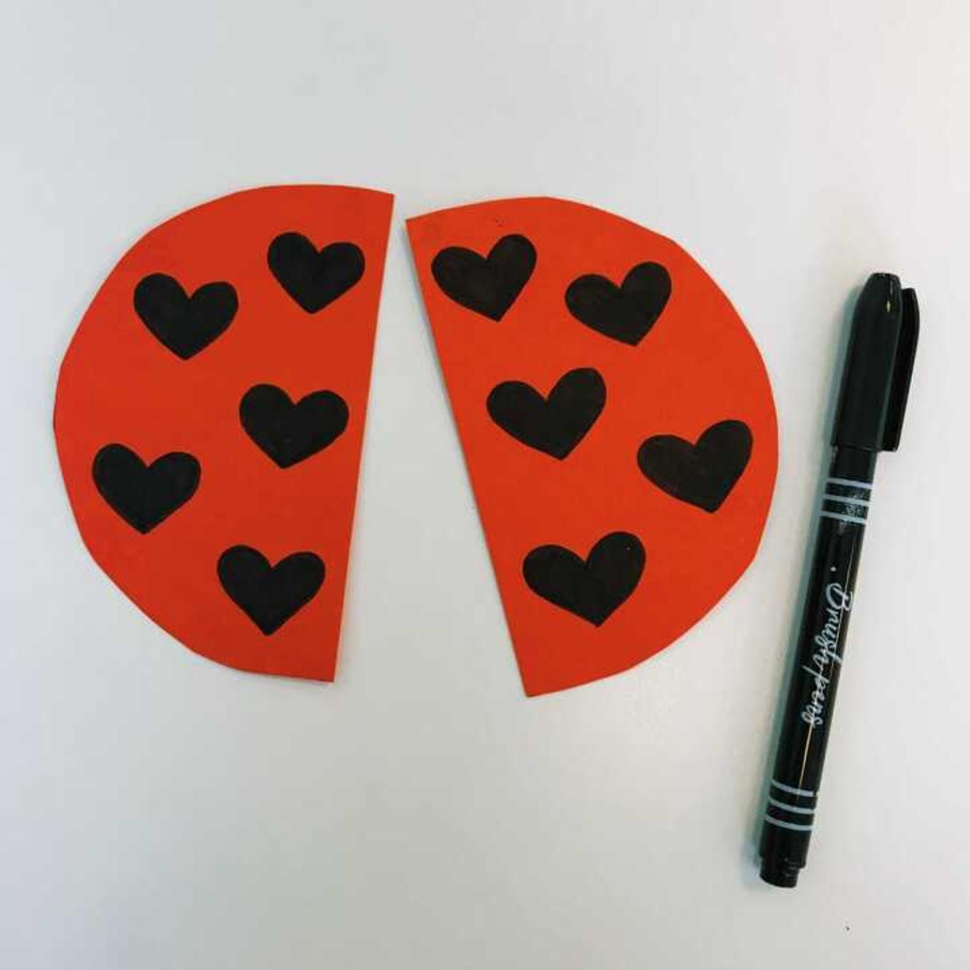 ladybug valentines day card