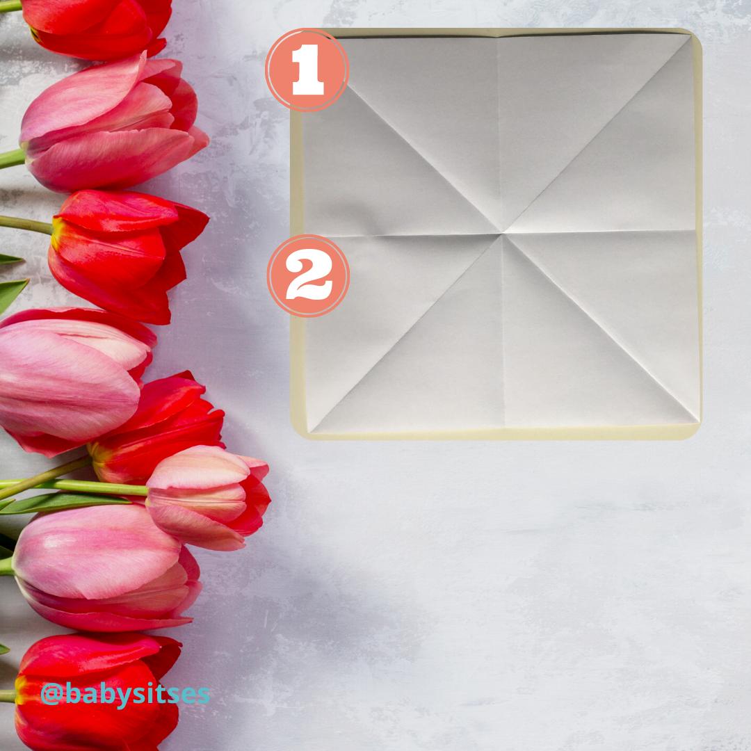 tulipán origami 1