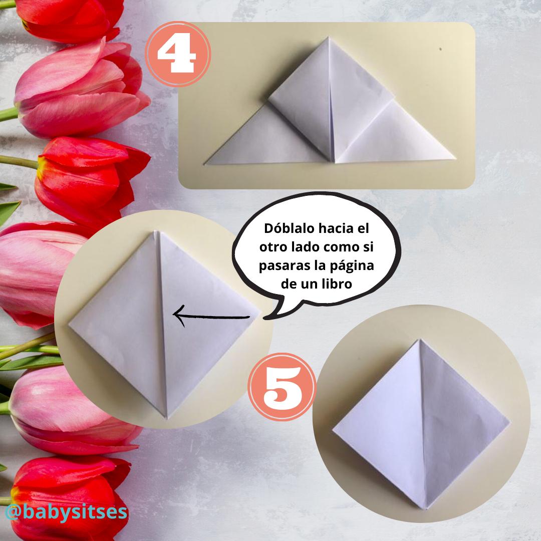 tulipán origami 3
