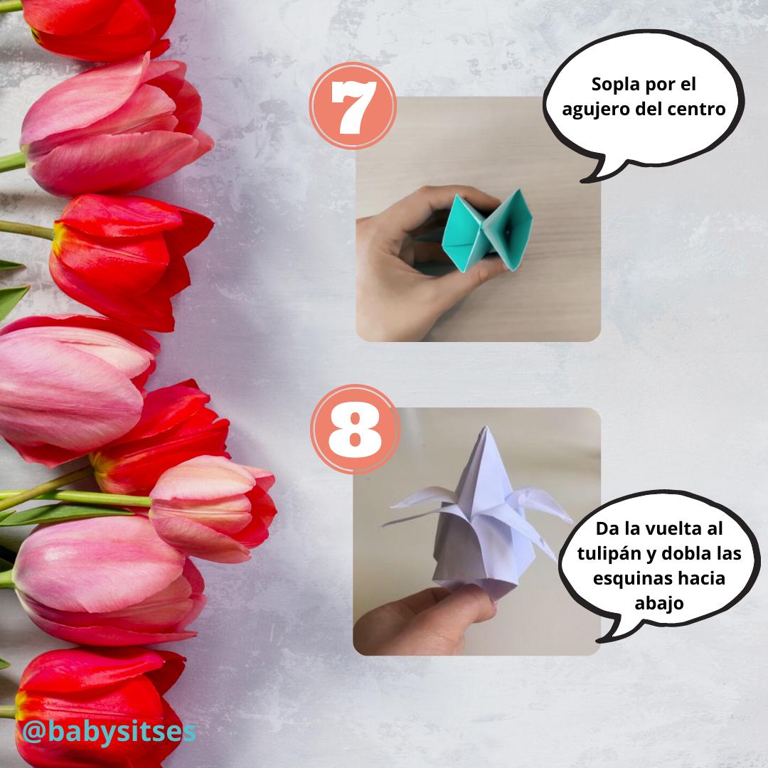 tulipán origami 6