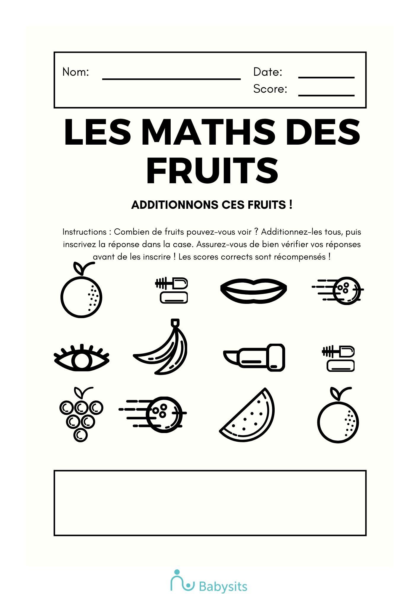 exercice de maths enfants