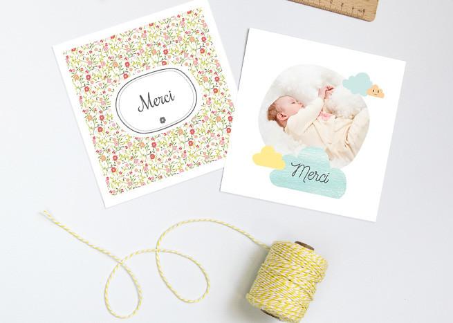 carte remerciement baby-sitter
