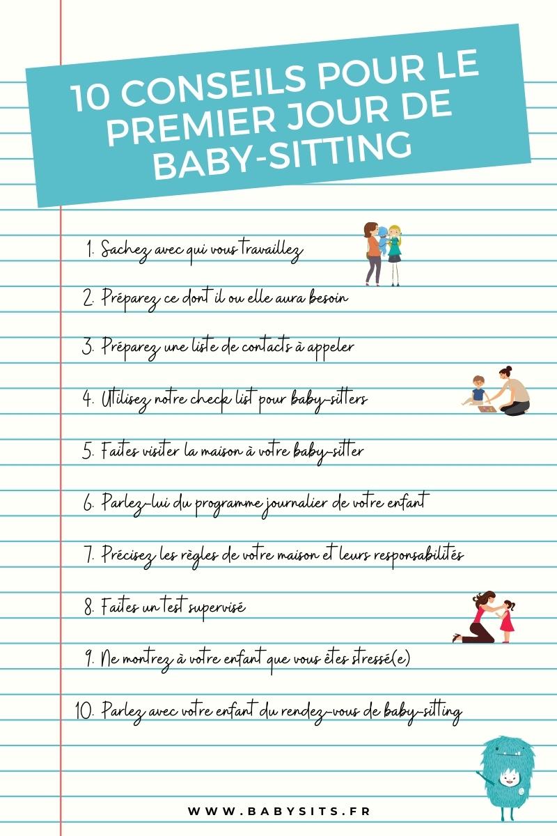 Premier baby-sitting check list