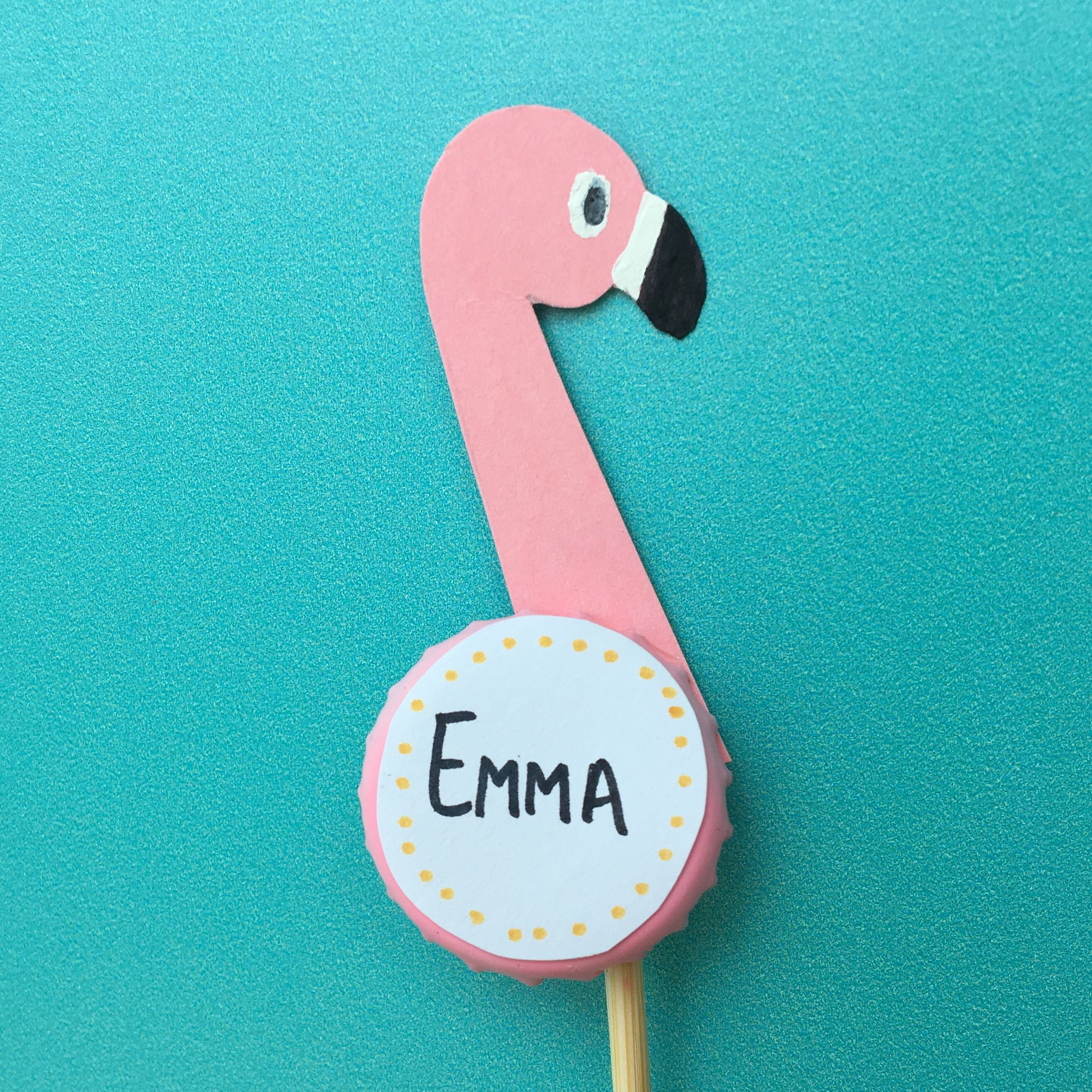 pink flamingo placecard