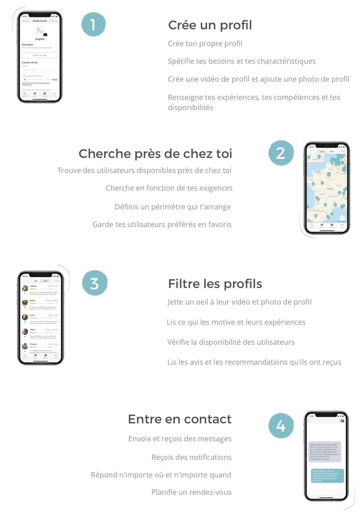L'application Babysits