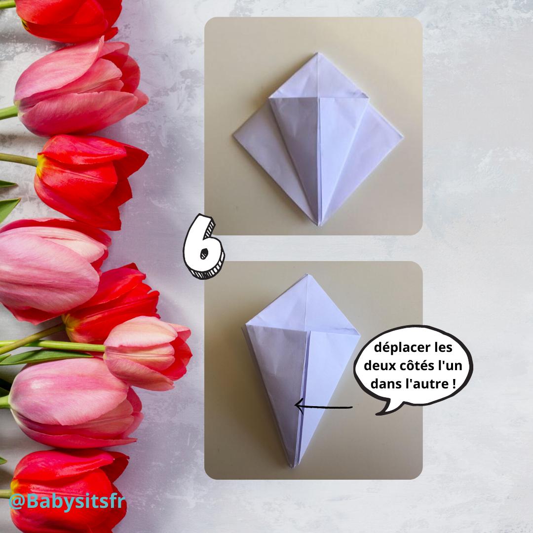 Tulipes en origami étape 6