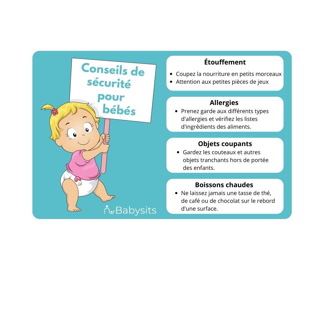 Conseils de sécurité pour bébé