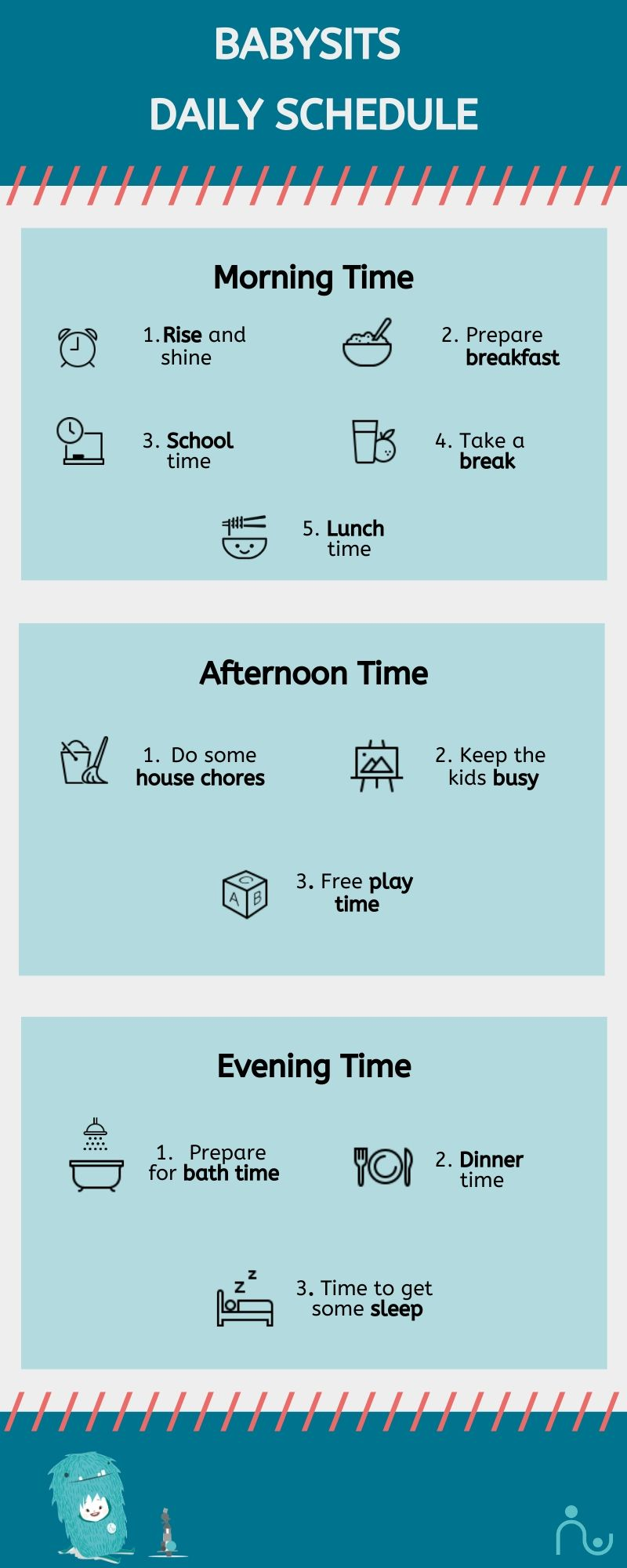 Kids at home schedule