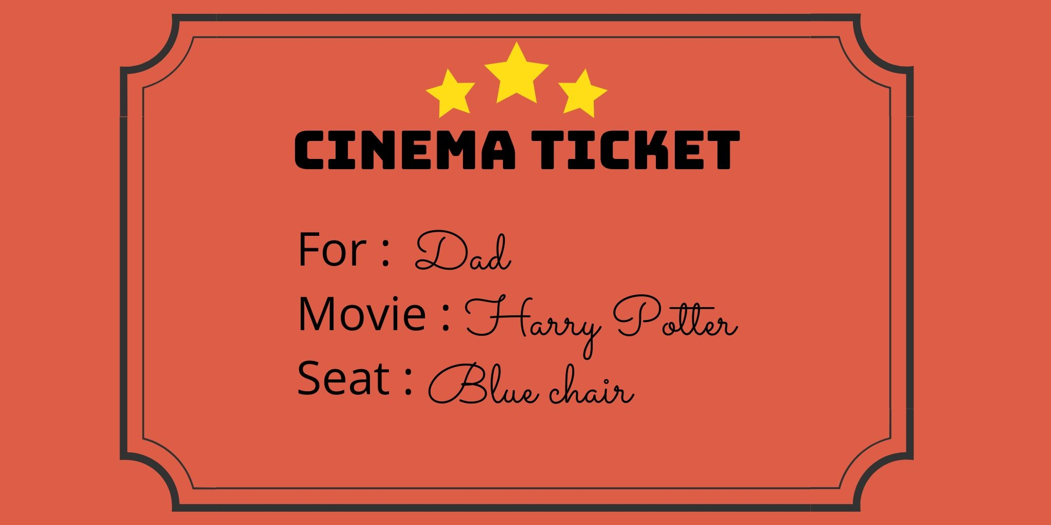 ticket de cine