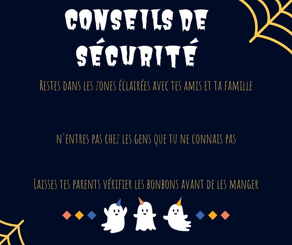 conseils de sécurité halloween enfants
