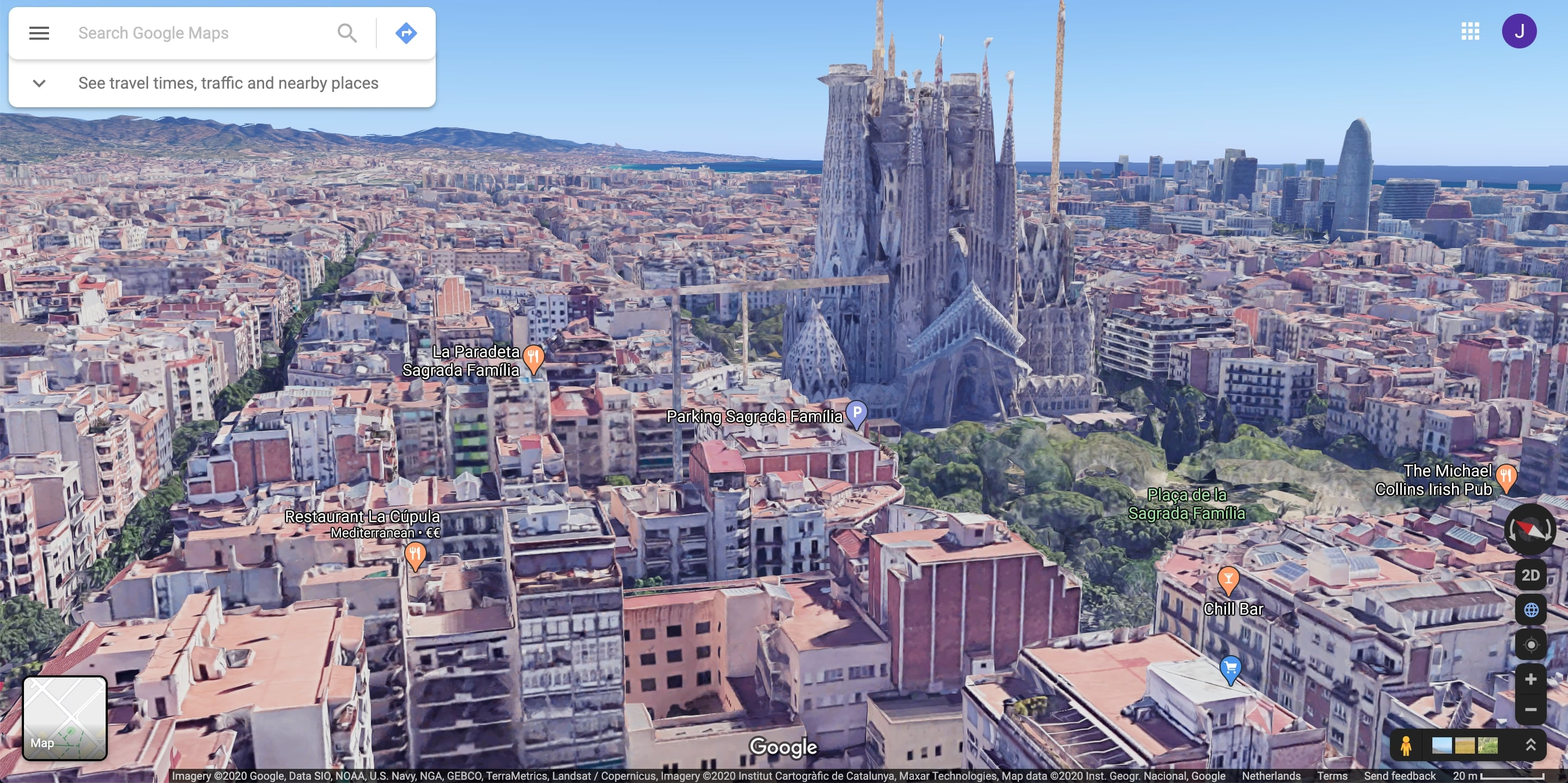Sagrada Familia Google maps