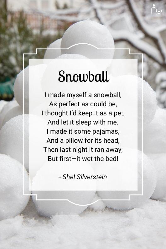 snowball poem shel silverstein
