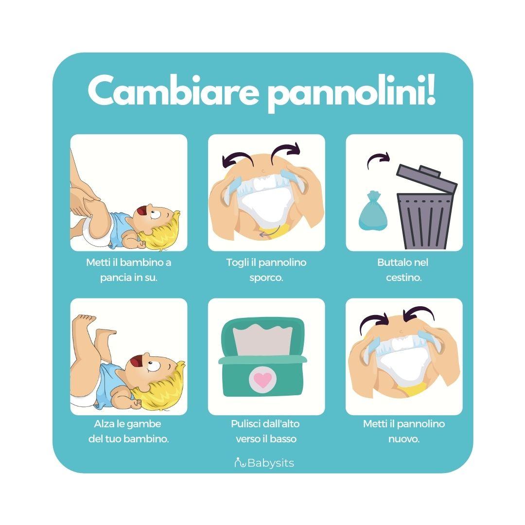 Come cambiare un pannolino: 6 semplici passaggi