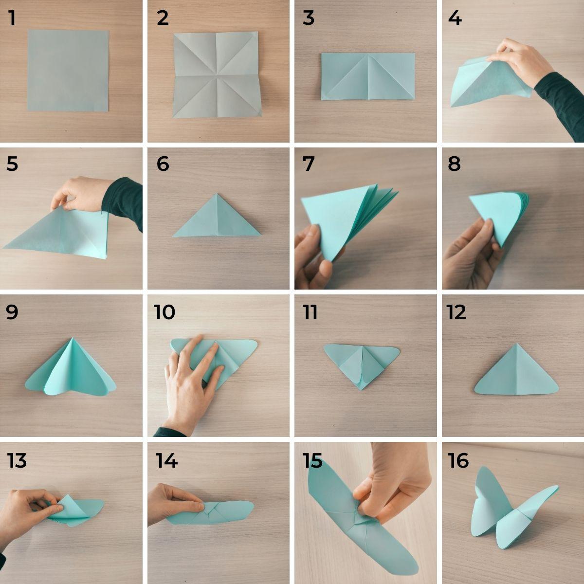 Farfalla origami per bambini - lavoretto facile da fare