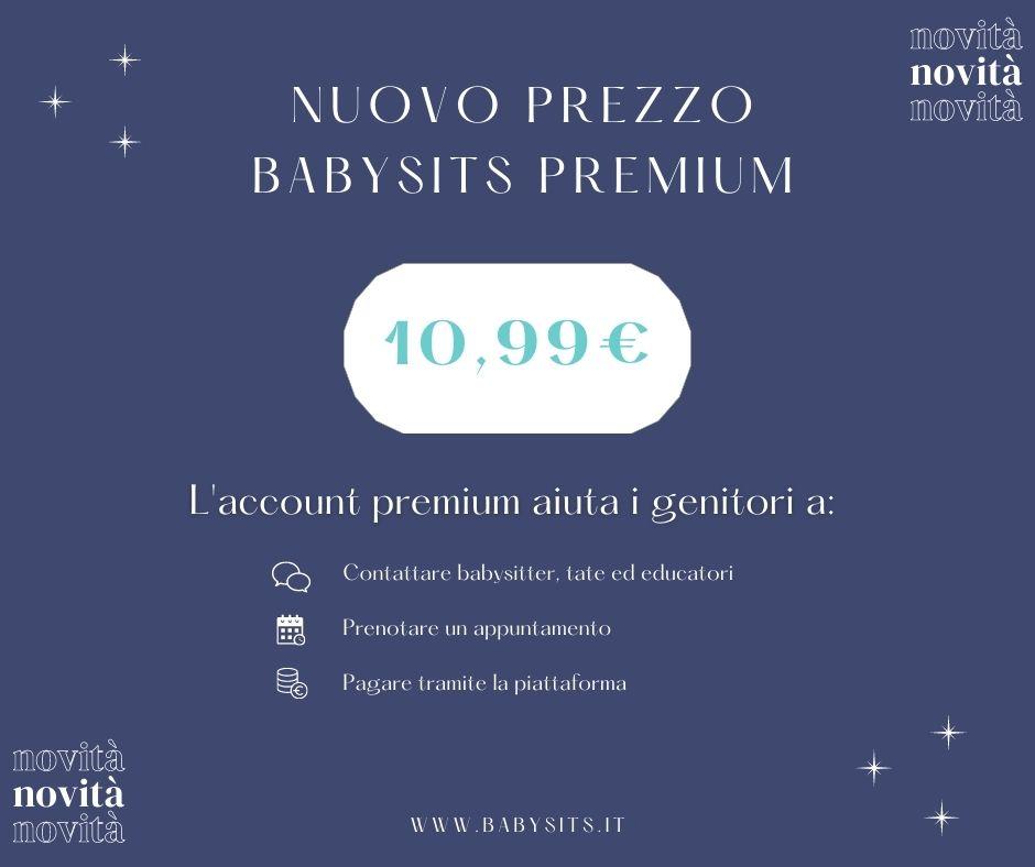 Babysits riduce il prezzo premium per aiutare le famiglie