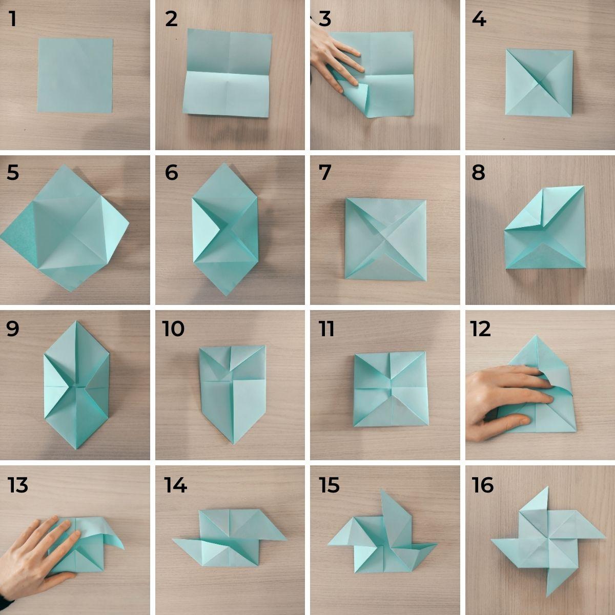 Girandola origami per bambini - lavoretto facile da fare