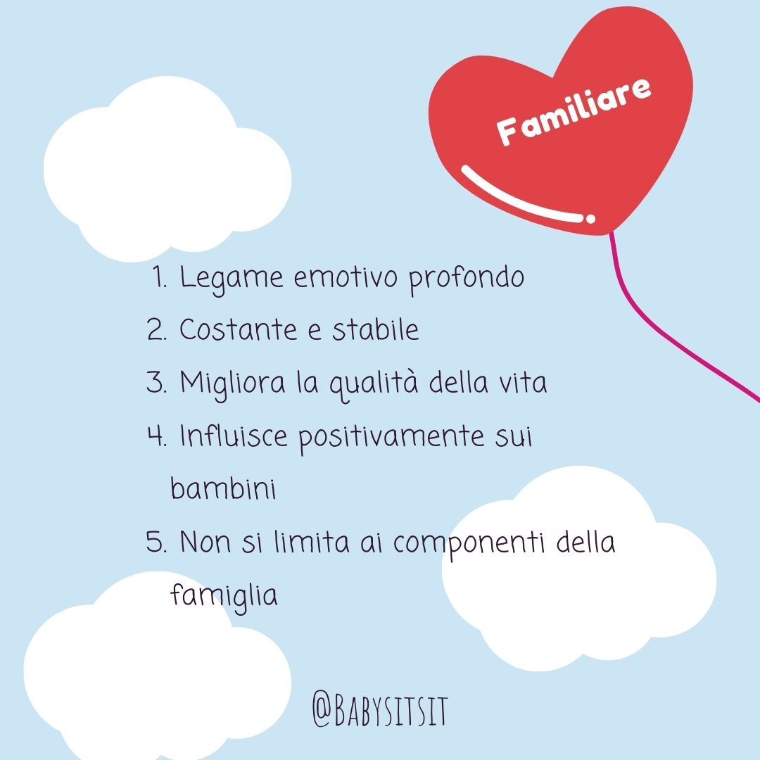Tipi di amore: l'amore familiare