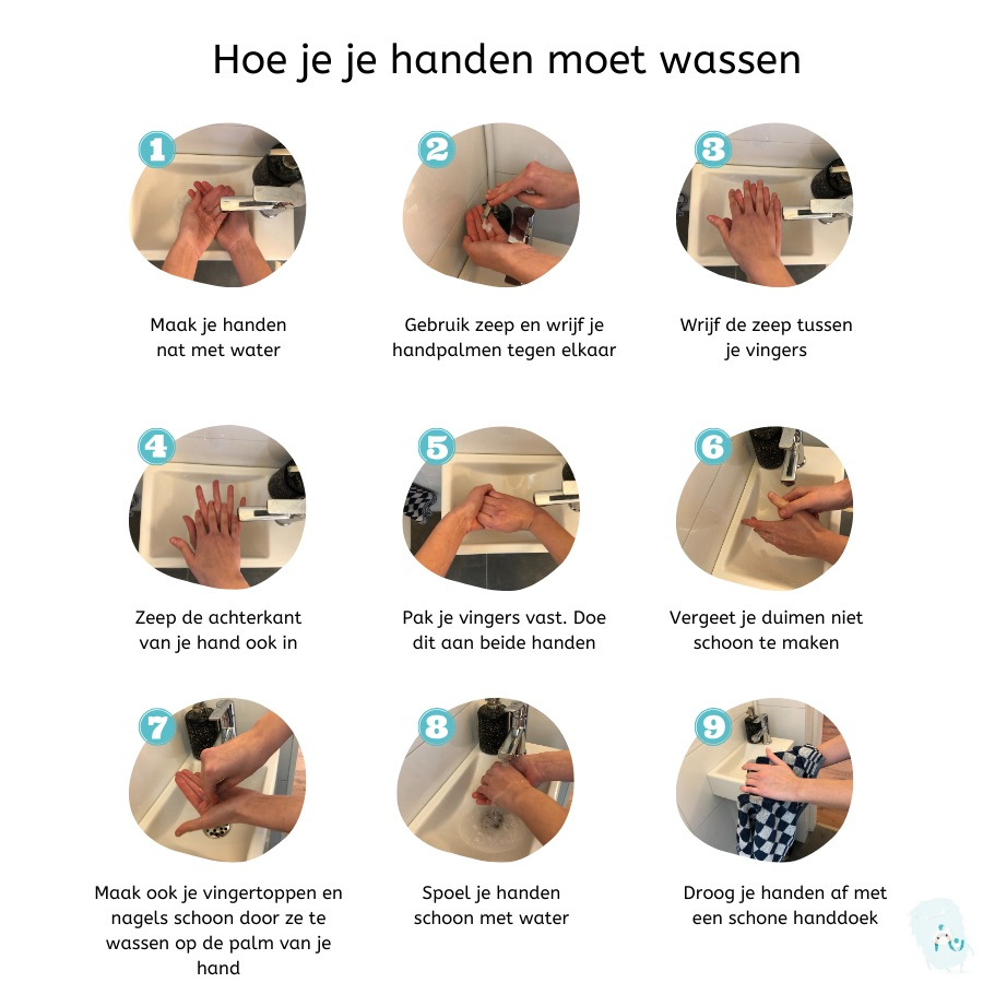 Hoe je je handen moet wassen