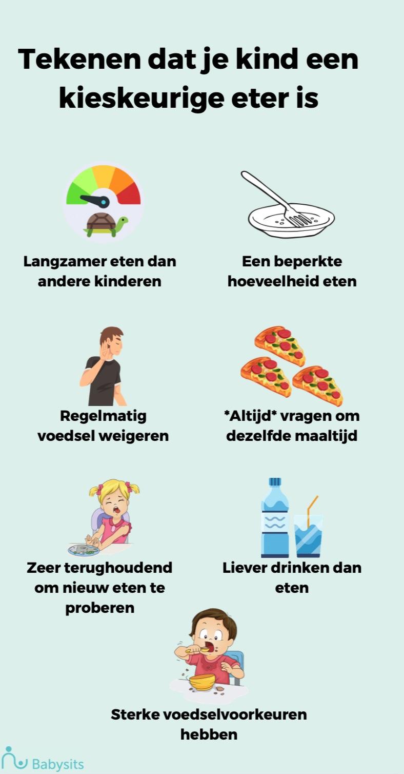 7 tekenen dat je kind een moeilijke eter is