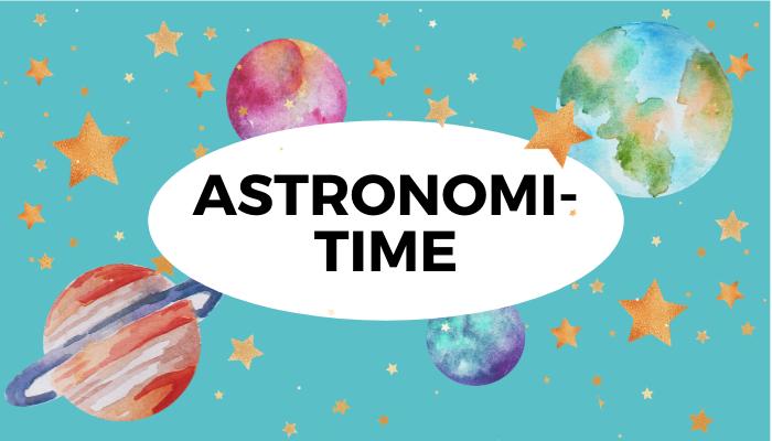 Astronomitime for barn, lære om månen