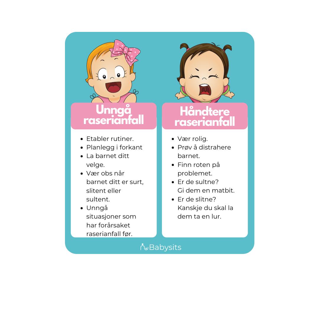 hvordan håndtere raserianfall hos barn