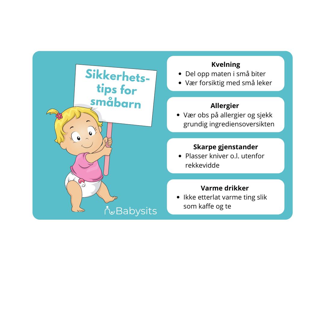 sikkerhet for barn, sikkerhetstips for småbarn
