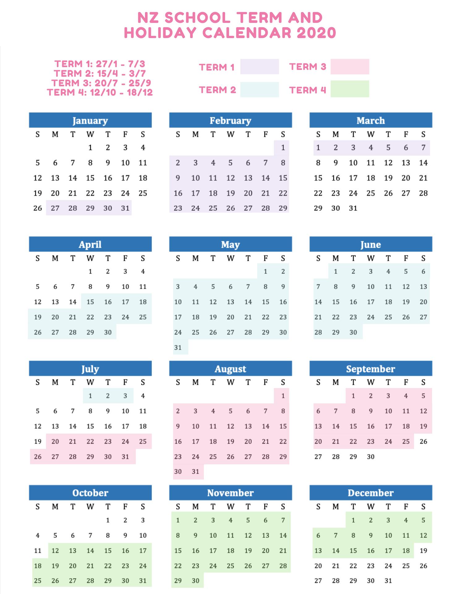 2021 Calendar Nz Background
