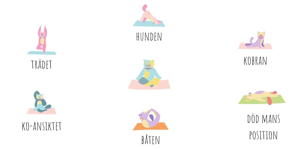 6 yogaövningar för barn
