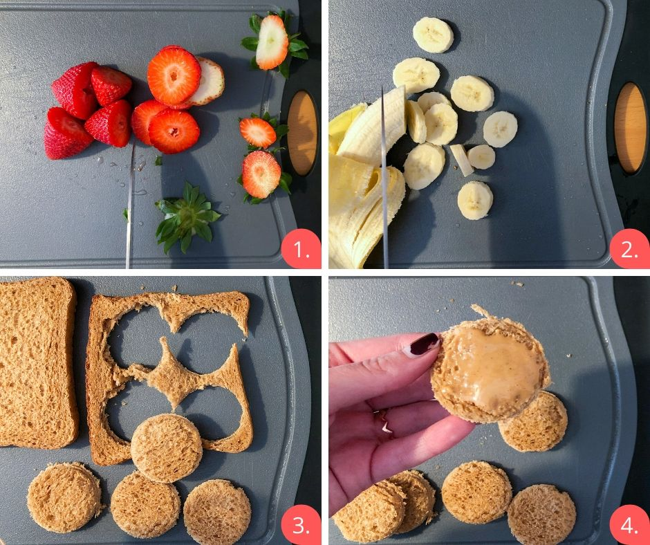 How to prepare PB fruit skewers