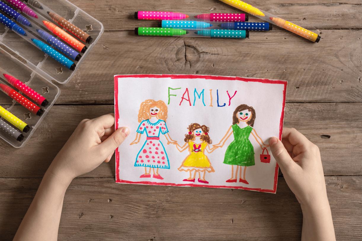 LGBTQ+ family lesbian parents