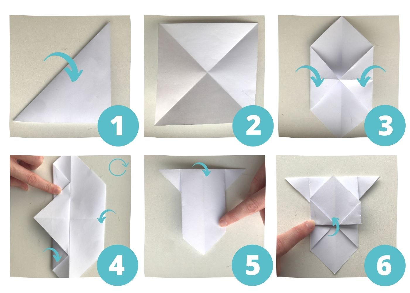 origami dog bookmark instructions