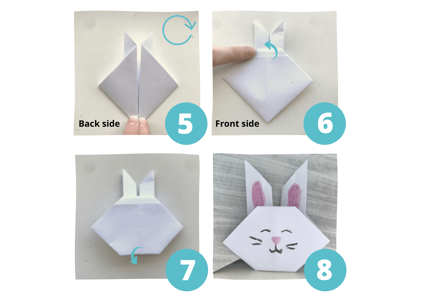 origami bunny rabbit step by step