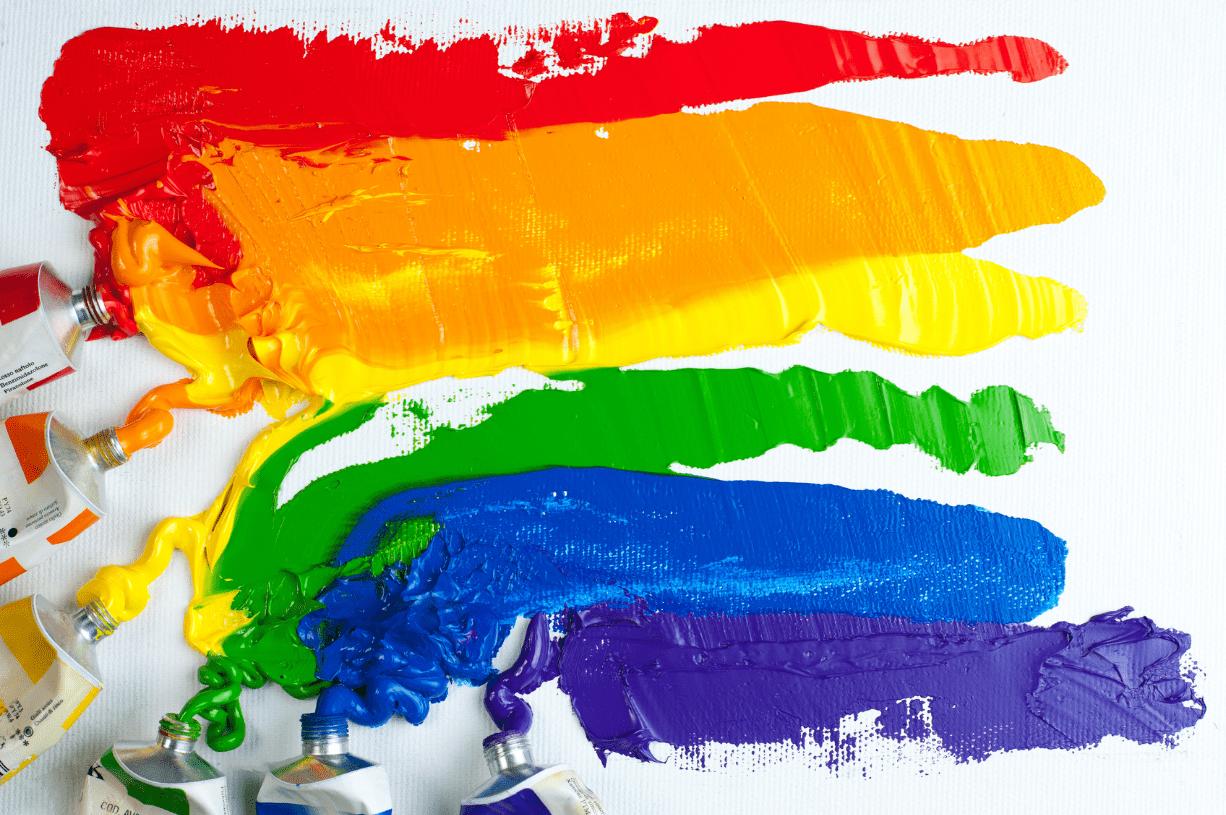 LGBTQ+ rainbow pride flag