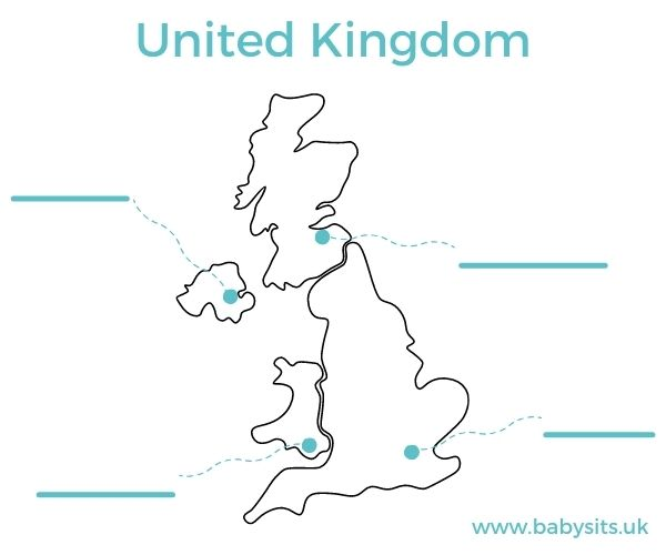 United Kingdom Map for Kids fill in the cities
