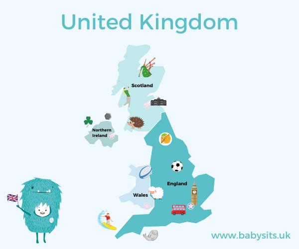 United Kingdom Kids Map