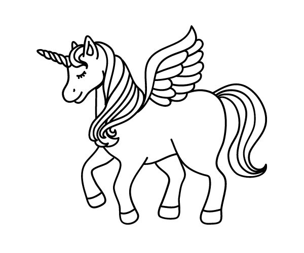 unicorn pictures to colour