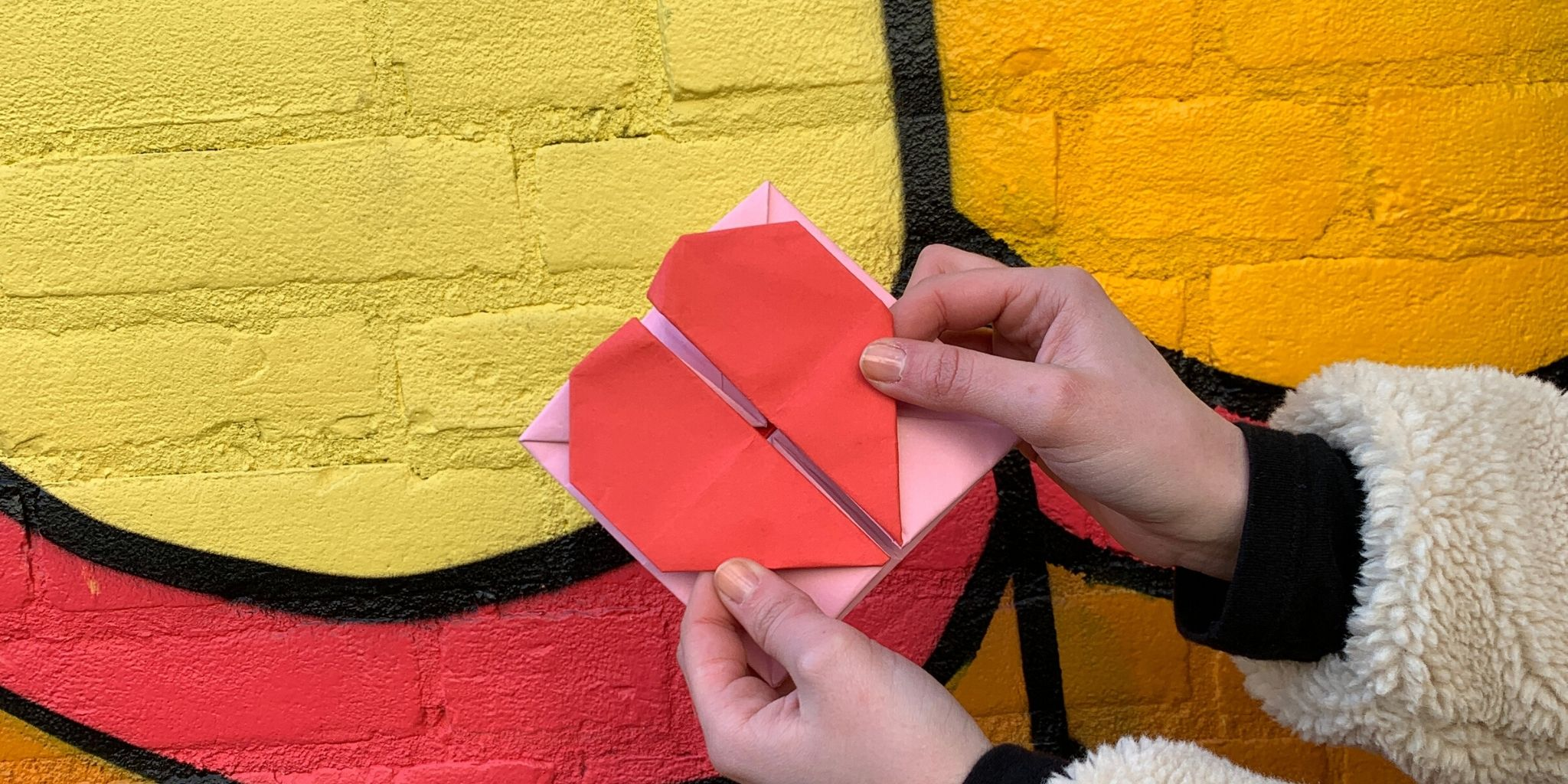 how to make an heart origami