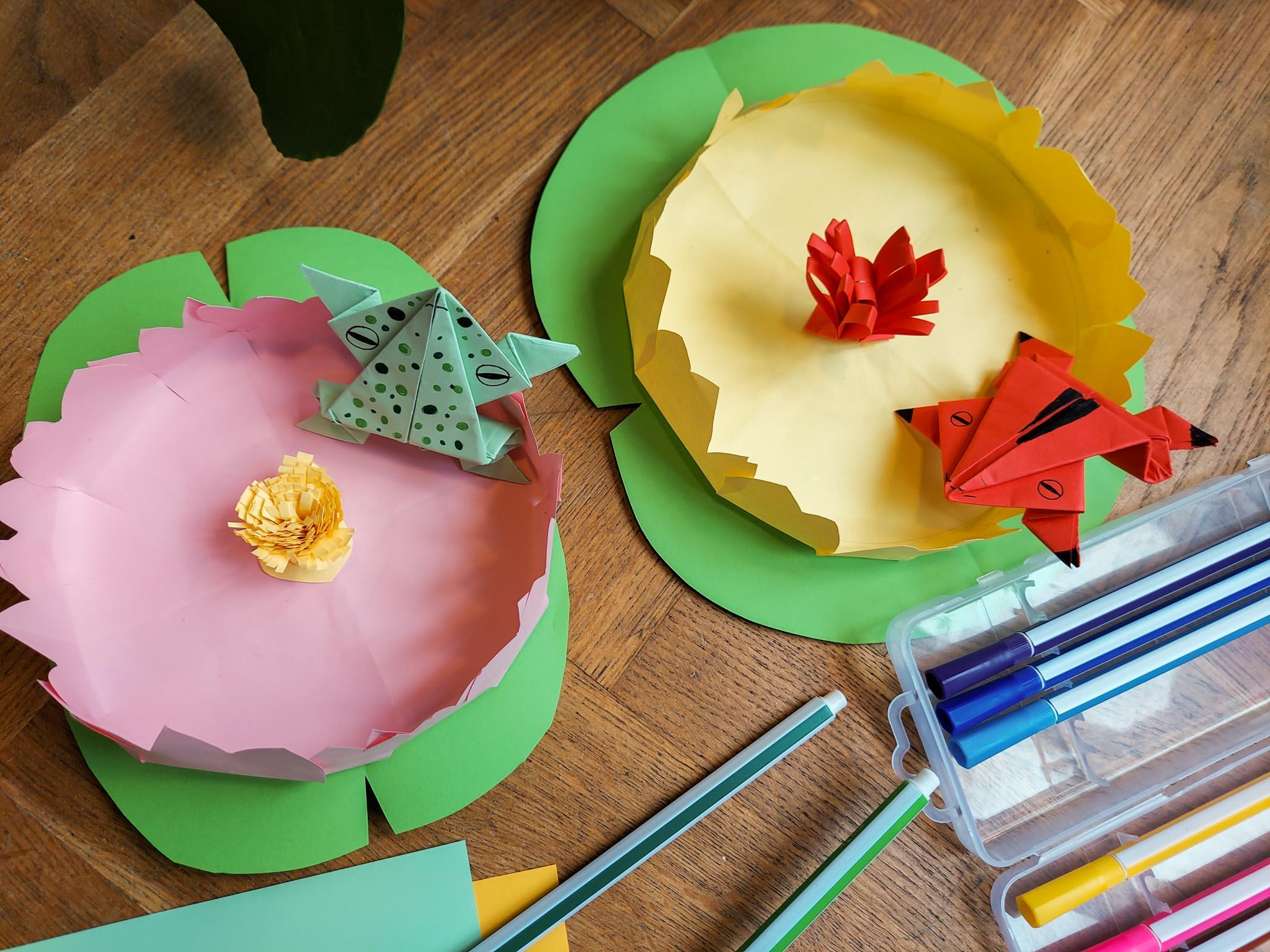 Origami frogs DIY