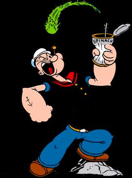 Popeye et la force des épinards