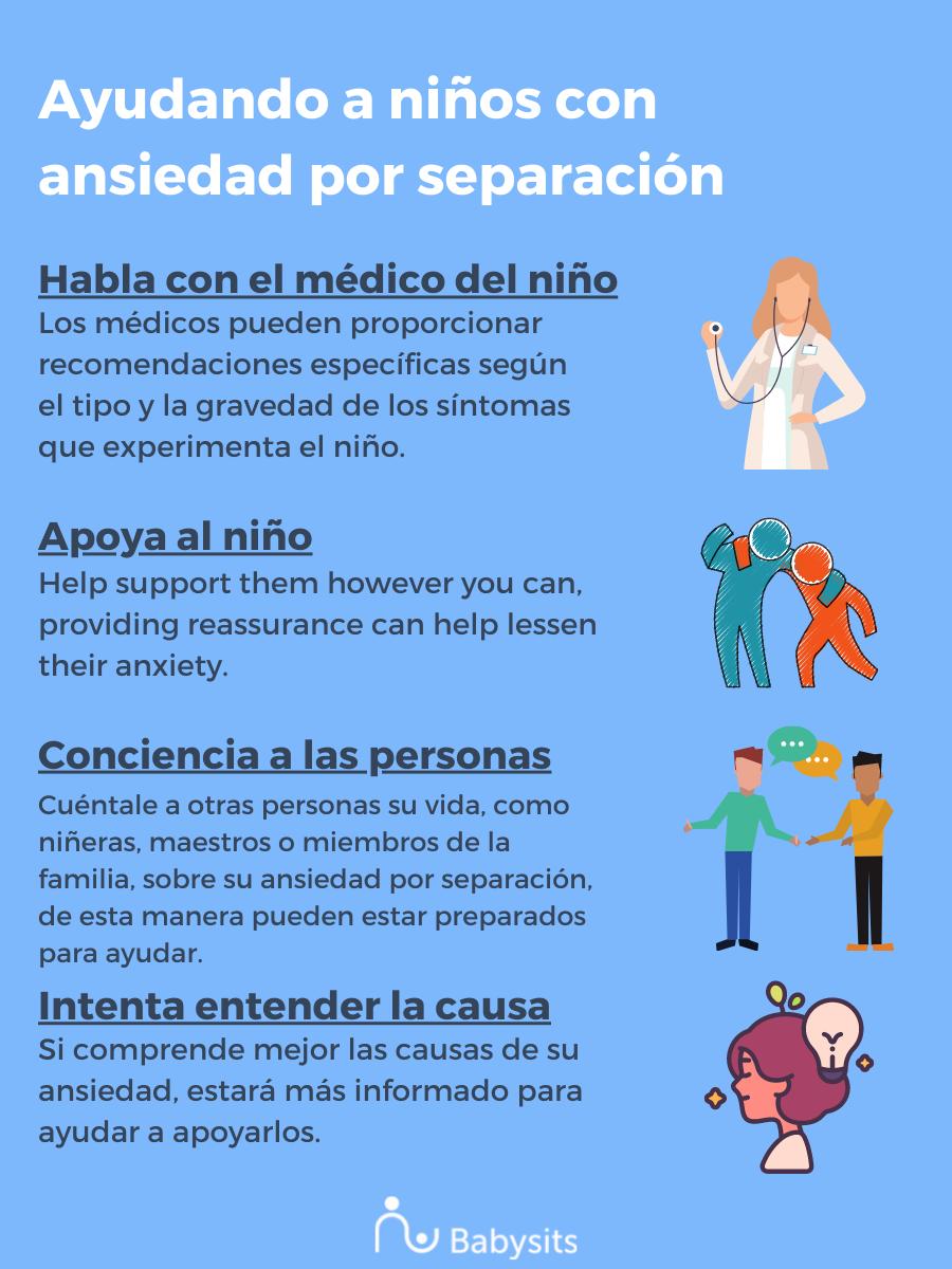 Ayudando a niños con ansiedad por separación