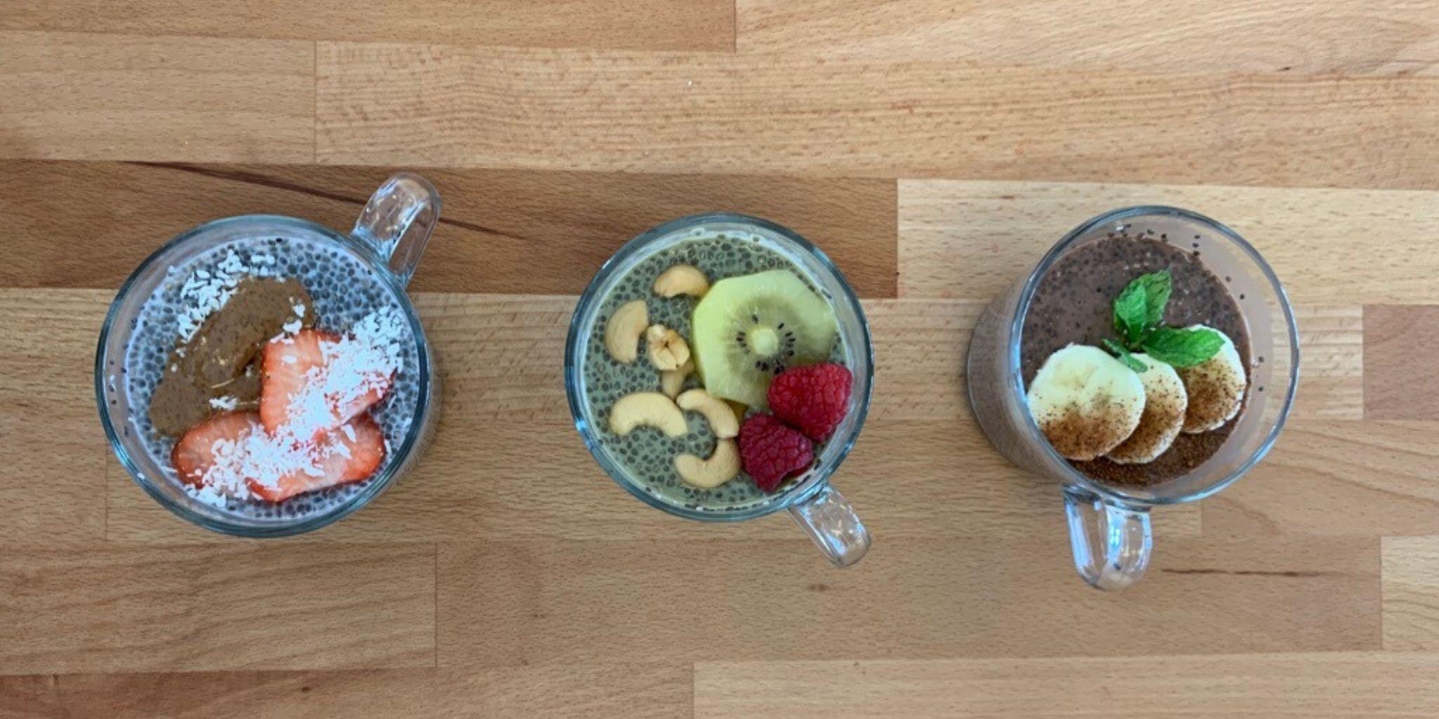 3 Rezepte für Chia Pudding