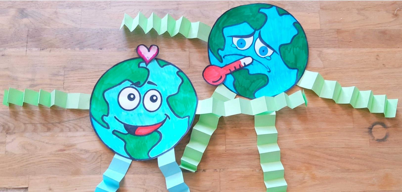 Mutter Erde und Klimawandel Bastelidee