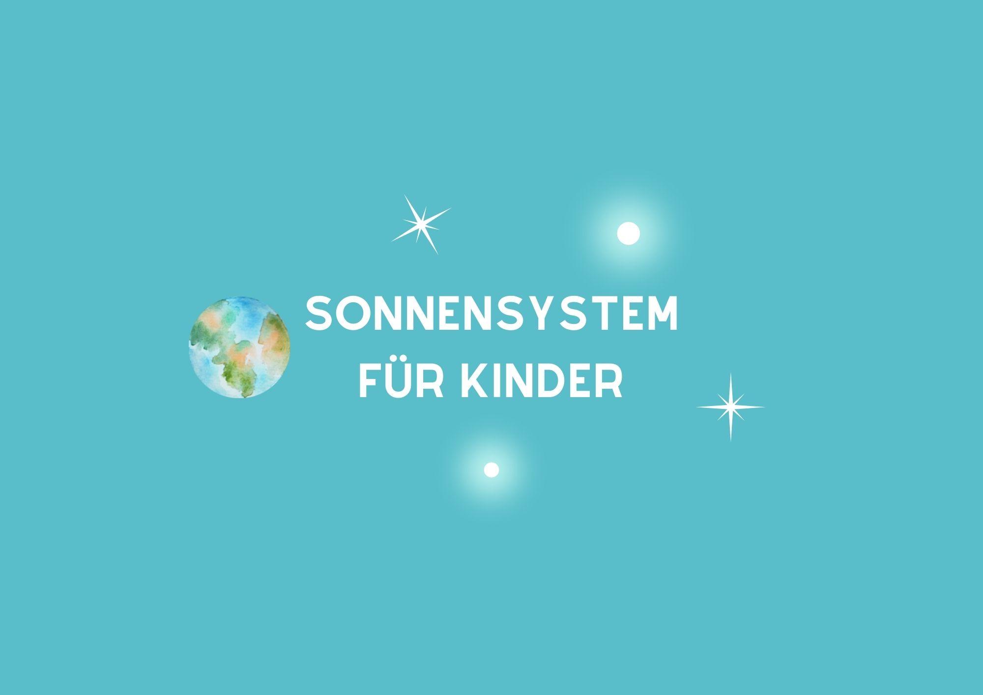 Sonnensystem für Kinder Aktivität
