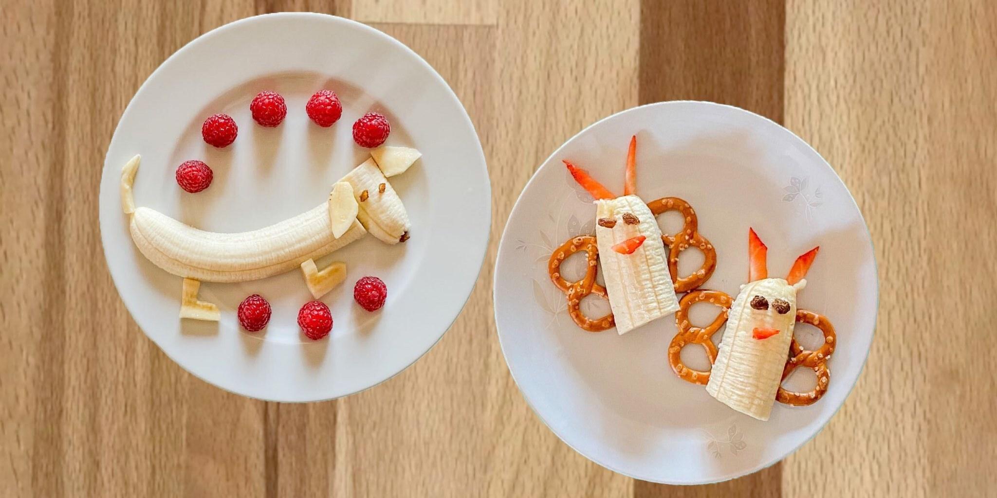 Zwei einfache Bananen-Snacks