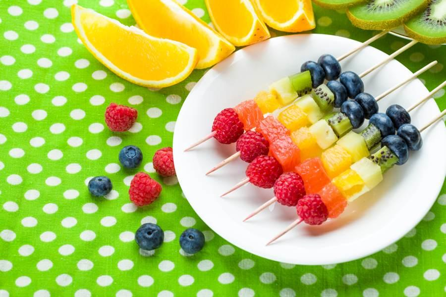 Fun and easy to make fruit skewers