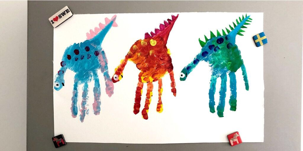 Dinosaur Finger Painting