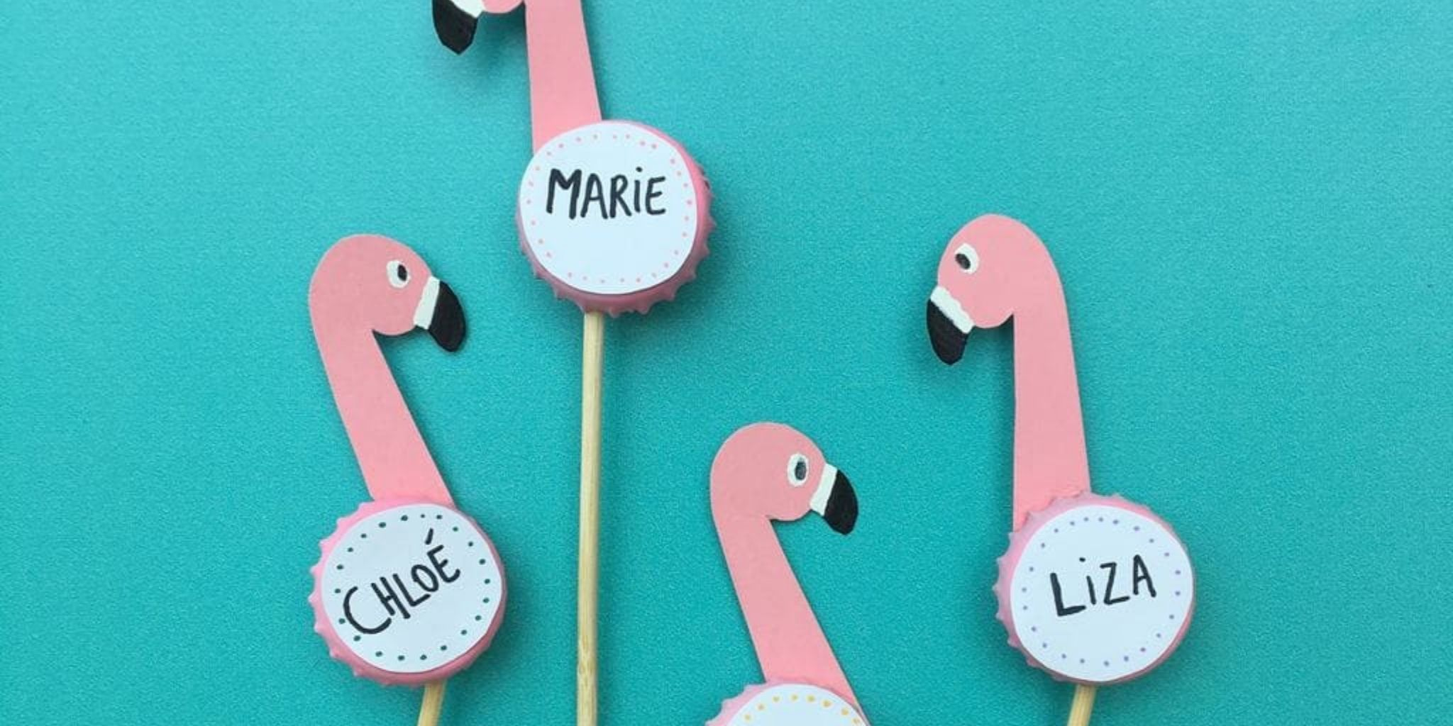 Pink Flamingo Placecards