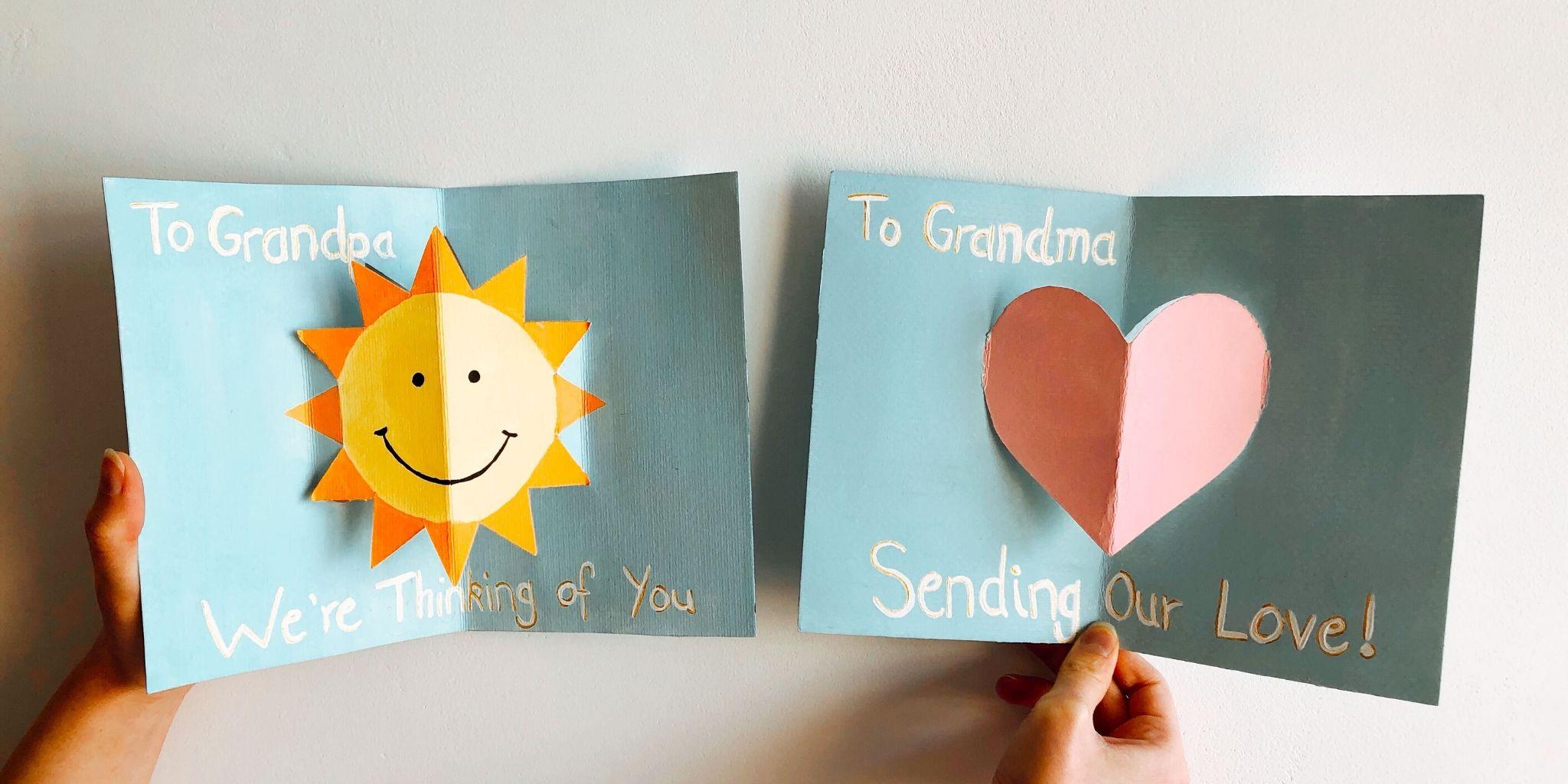 Manualidad - Carta para abuelos